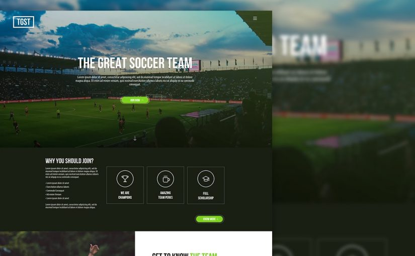 Sketch 3 – Web UI Design for Sports Team (Timelapse)