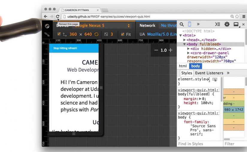 Setting the Viewport Quiz – Responsive Web Design Fundamentals