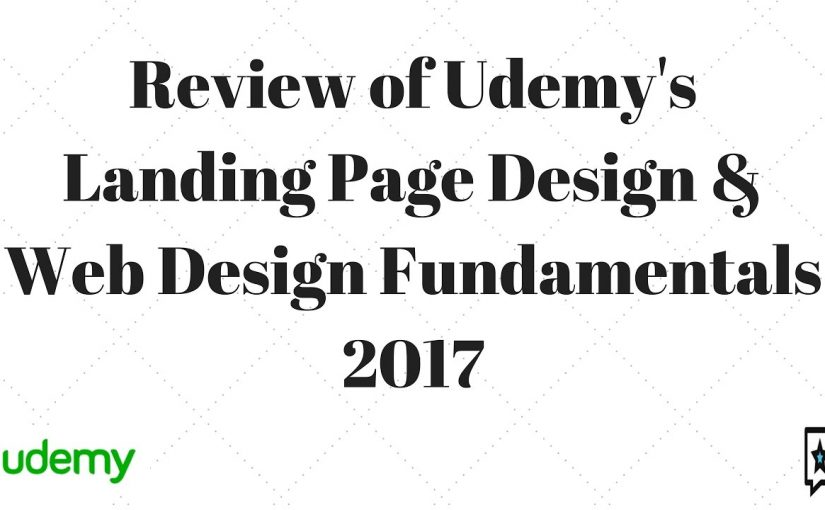 Udemy Review Landing Page Design Web Design Fundamentals 2017 City Kitty Design