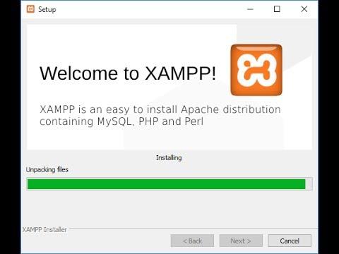web designing XAMPP installation make 2-php