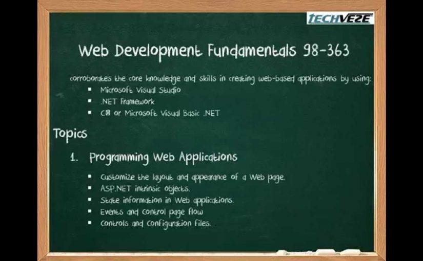98 363 Web development fundamentals