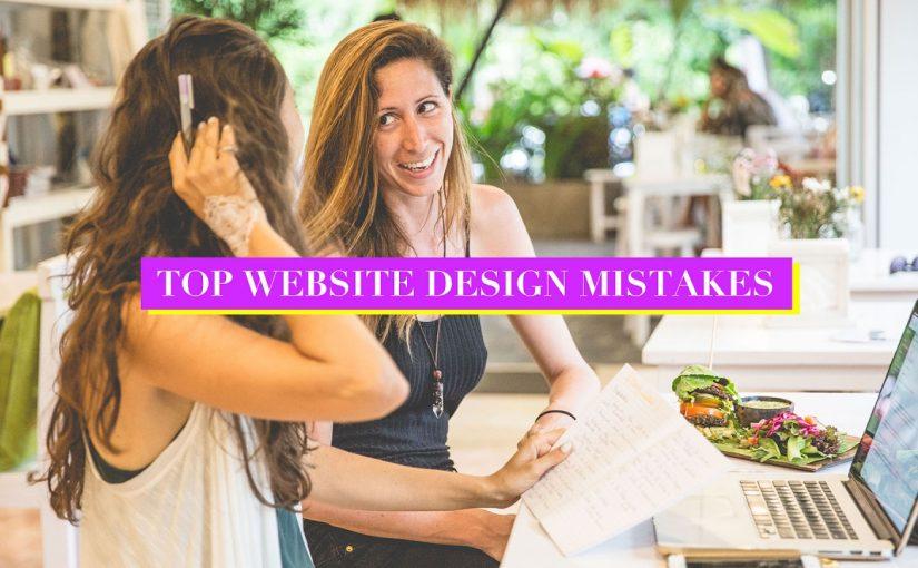 Top website design mistakes | HEY YOGI