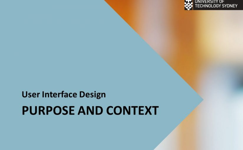 UI Design   purpose and context