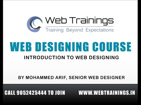 Web Designing Course in Hyderabad – Introduction to Web Designing