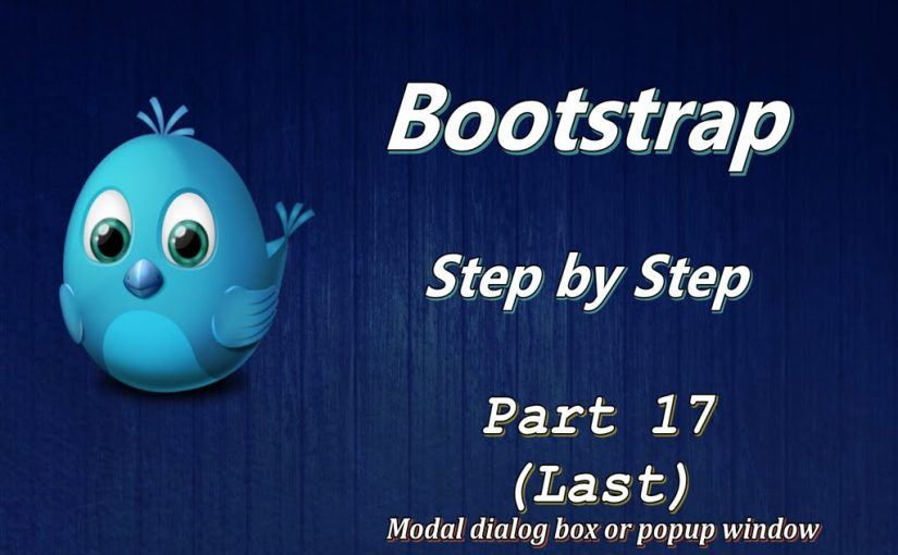 Bootstrap Responsive Web Design Tutorial For Beginners Part 17 of 17 Modal  box or popup
