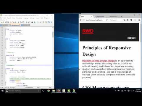 Principles of Responsive Web Design