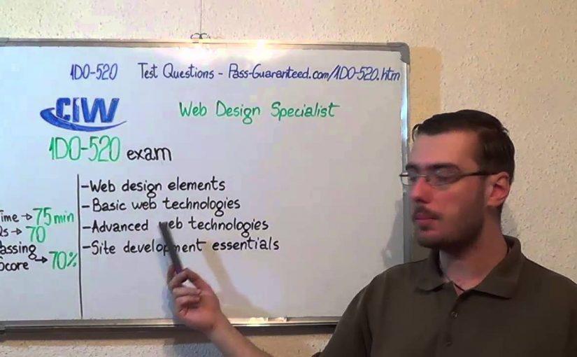 1D0-520 – CIW Exam Web Design Specialist Test Certificate Questions