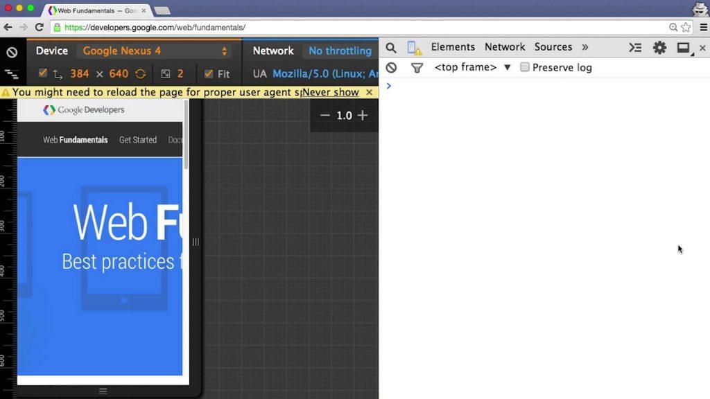 设置 Chrome 开发工具