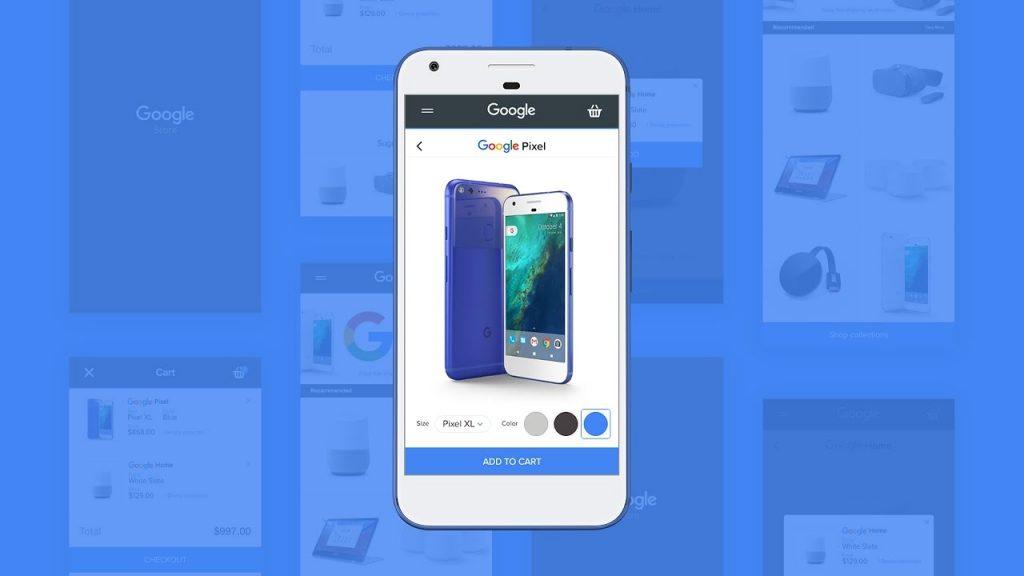 Mobile Web Design – Ecommerce Site   Google Store – in Adobe Xd