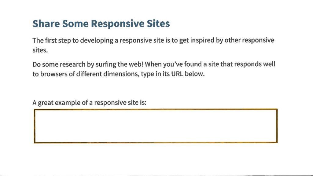 Share Responsive Sites Quiz – Responsive Web Design Fundamentals