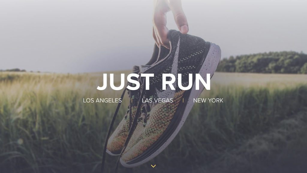 Web Design Speed Art – Nike Just Run