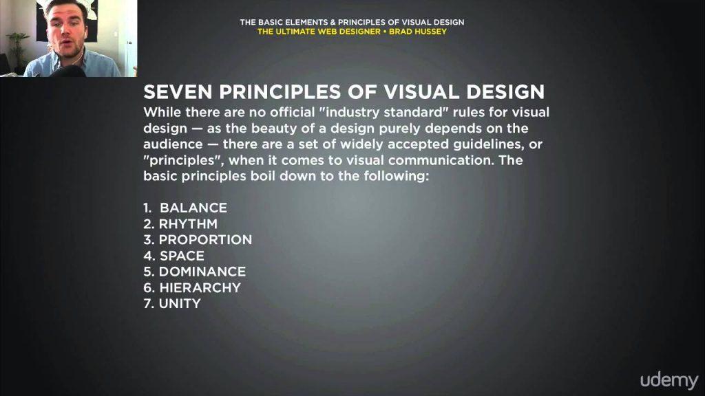 1. The Basic Elements & Principles of visual design (web designing)