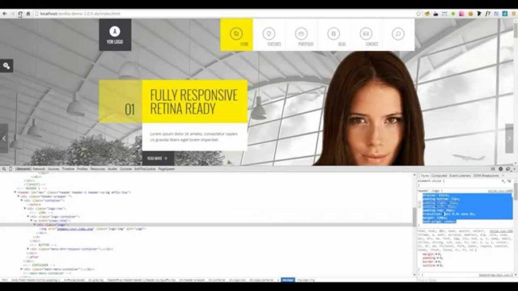 Amilia – Responsive Multi Purpose Template. How to change logo