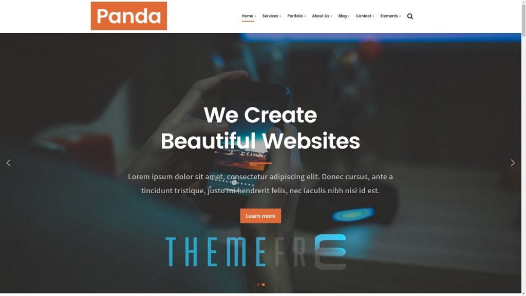 PANDA Creative Multi-purpose WordPress Theme for Business, Freelancer, Web Design, Development
