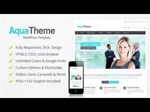 Aqua – Responsive Multi-Purpose WordPress Template   Website Templates and Themes