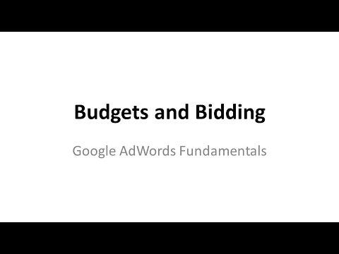 Budgets and Bidding  – Google AdWords Fundamental Exam
