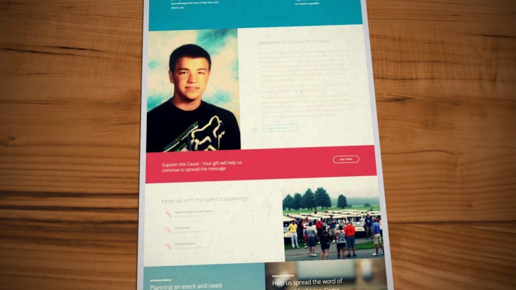 Nonprofit Website Design for Choices for Chase