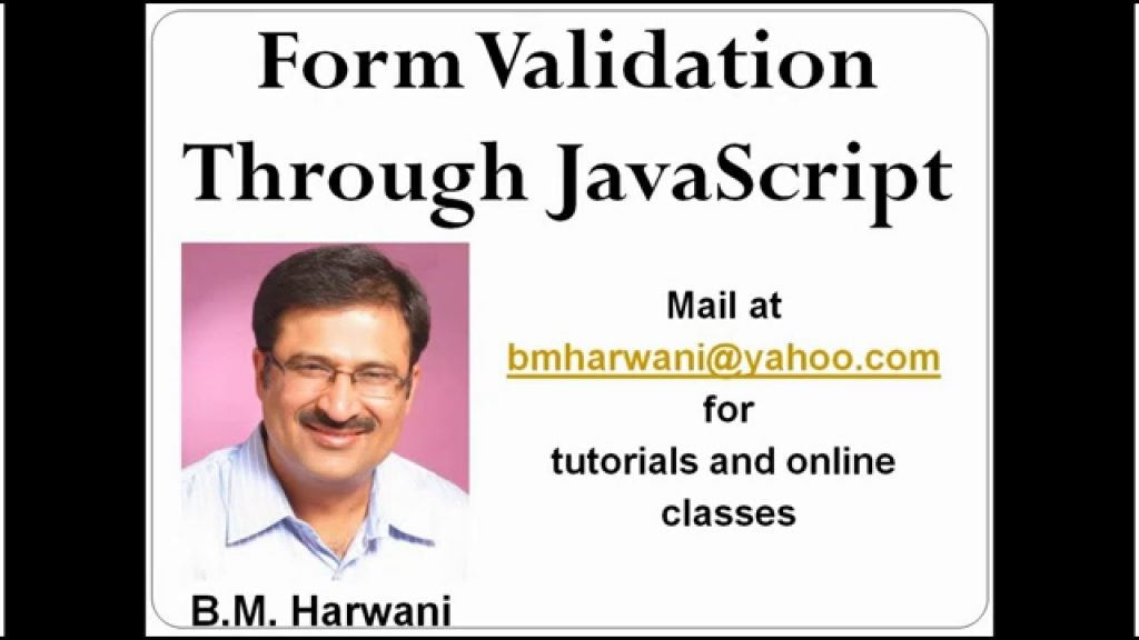 JavaScript Lecture 2 Web Form Validation (In Hindi)
