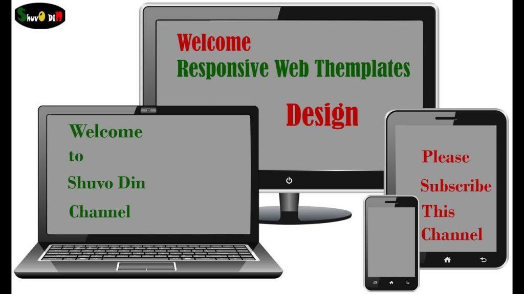 responsive web template design
