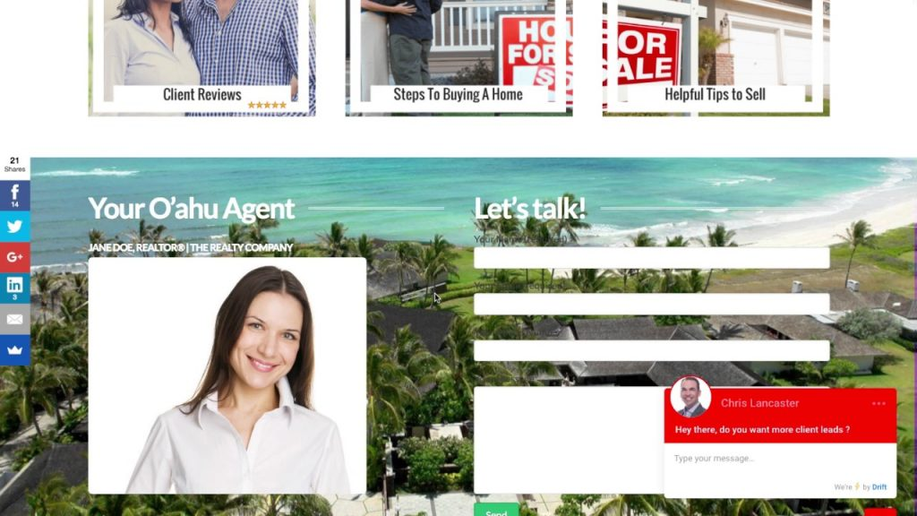 Real Estate Agent Website Design Walk Through