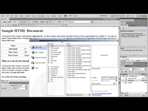 CSS Fundamentals with Dreamweaver CS5 Part 1