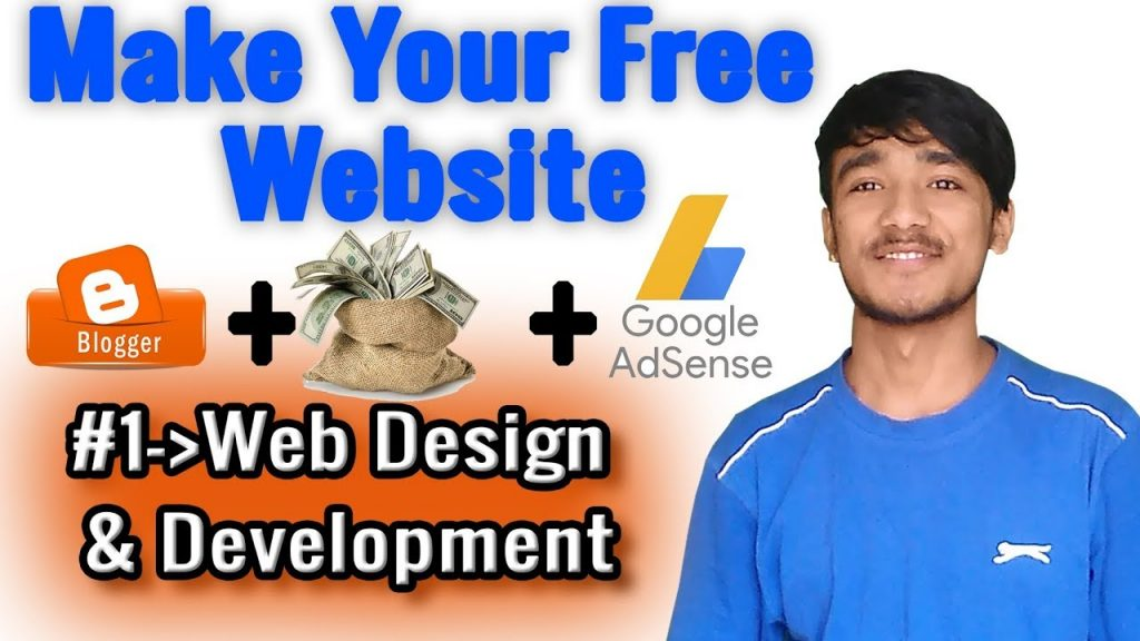 #1-Web Design And Development || Make Your Free Website/Blog.