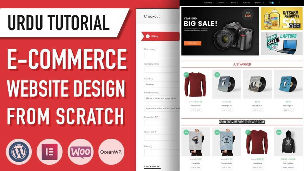 Ecommerce Website – Designing from Scratch – Urdu Tutorial – Part 1