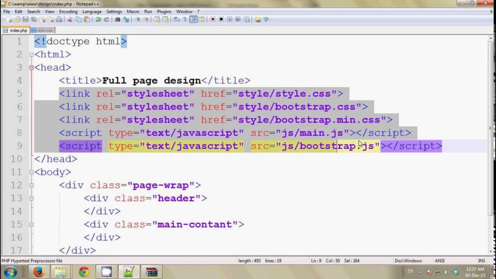 Full web page design step by step Bangla tutorial #1