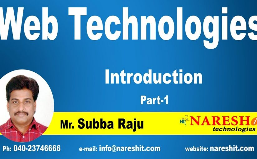 Introduction to Web Technologies – Part 1 | Web Technologies Tutorial