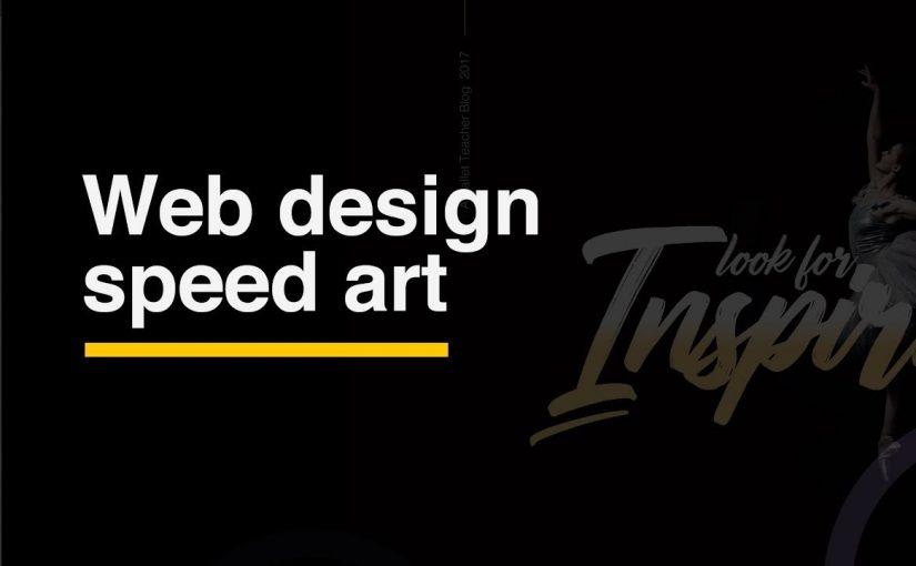 Web design speed art 🍋